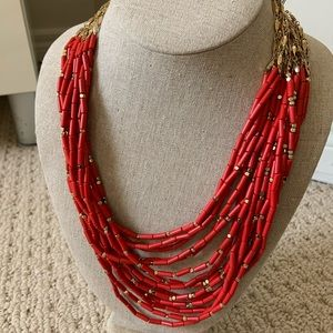 Stella & Dot Campari Beaded Necklace
